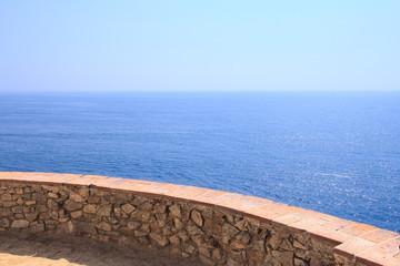 View on sea at Costa Brava, Spain