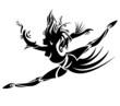 Abstract dancing girl. Vector