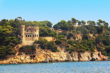 castle Sant Joan in Costa Brava