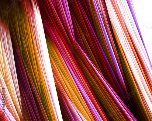 Abstract pink lines on white background
