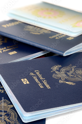 Closed and opened passports