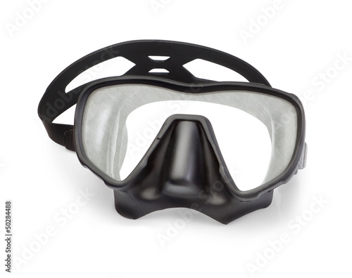 Mask for snorkeling and diving. On a white background.
