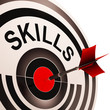 Skills Target Shows Abilities Competence And Training
