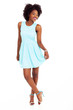 cute african american woman full length portrait
