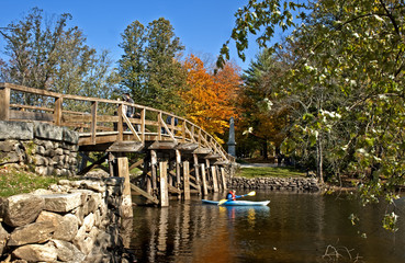 North Bridge in Concord, MA, where the revolution started