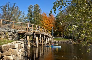 North Bridge in Concord, MA, where the revolution started