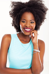 attractive african american woman portrait