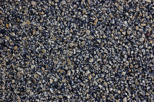 Wet Asphalt Texture Background, Detailed Textured Copy Space