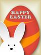 Happy Easter Rabbit Bunny Easter Egg Retro