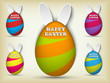 Happy Easter Rabbit Bunny Easter Egg Set