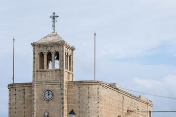 Chapel facade in Selmun, Malta