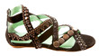 Studded leather roman sandal