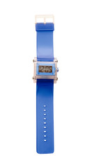 Blue simple translucent silicone watch