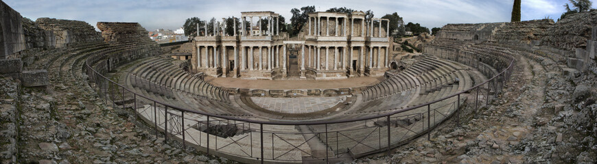 Panoramic view of the roman theatre