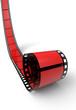 Blanko Filmrolle Rot Schwarz 04