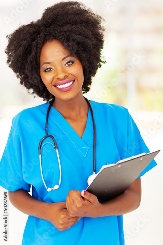 beautiful african american medical professional