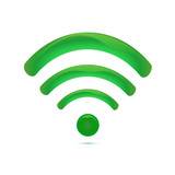 Green wireless icon