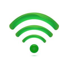Green wireless icon