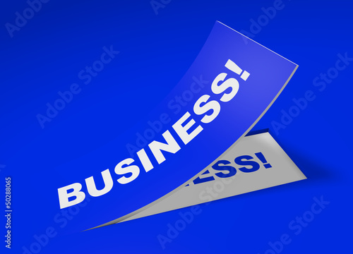 3D Etikett Blau - Business!