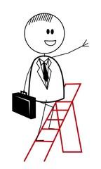 businessman ladder
