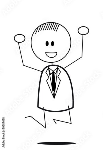 businessman jump happy