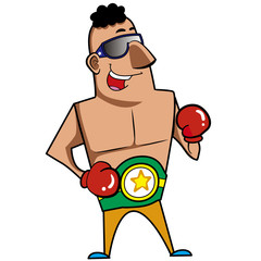 Cartoon Boxer