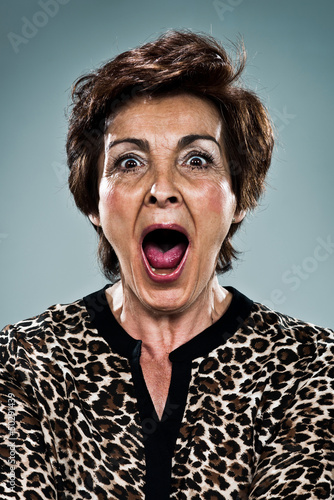 Mature Woman Shouting