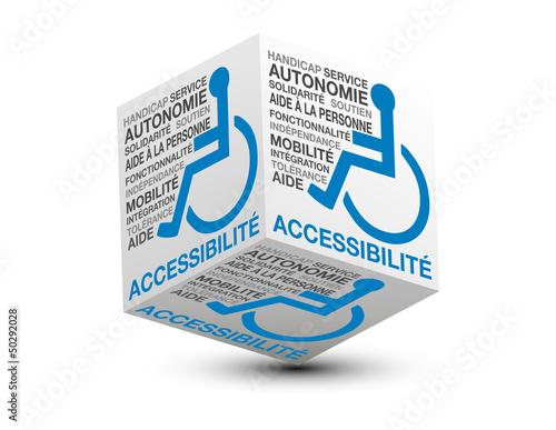 cube 3d handicapé