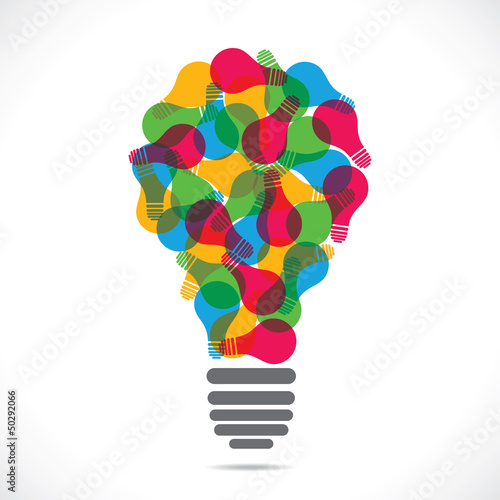 color bulb design with bulb