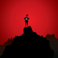 businessmen on top
