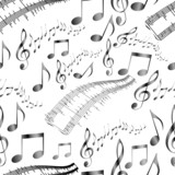 seamless musical instruments pattern vector