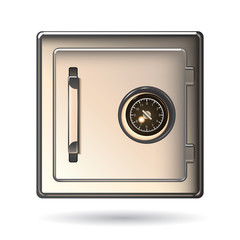 Metal Safe Icon. Security concept. Vector illustration