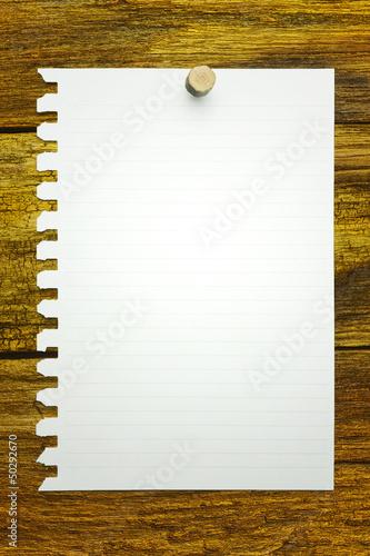 ノート 張り紙