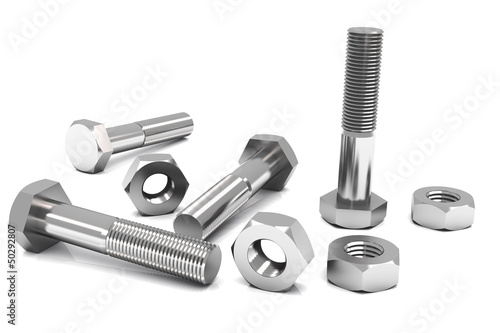 canvas print picture Nuts and bolts
