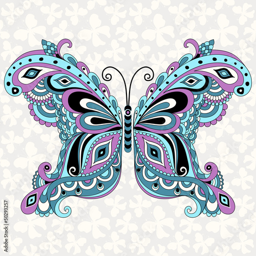 Decorative fantasy vintage butterfly