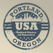 Grunge rubber stamp with name of Oregon, Portland, vector