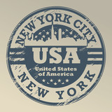 Stamp with name of New York, New York City, vector illustration