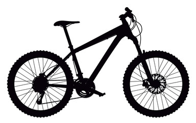 Silhouette of mountain bike