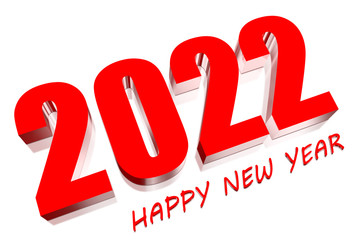 3D Happy New Year 2022