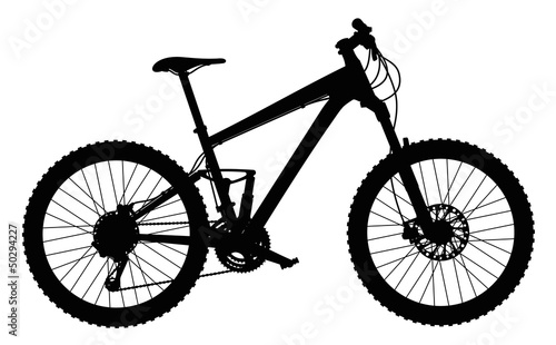 Silhouette of mountain bike