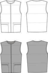 Vector illustration of men's waistcoat