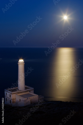 Lighthouse and full moon