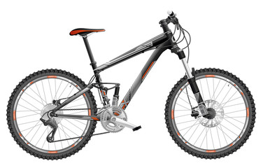 Mountain bike full-suspension