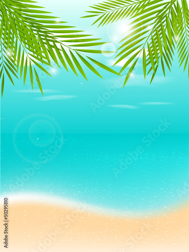 Summer vacation tropical background