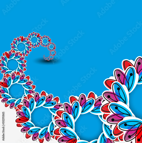 vector floral design element background.