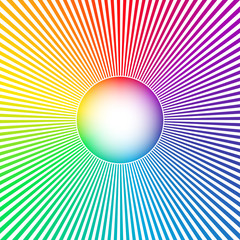 Rainbow colored sun abstract background