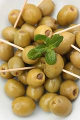 Olives Vertes farcies à la pâte d'anchois