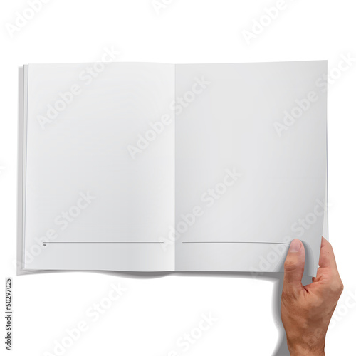 Isolated open book on white background. Vector design.