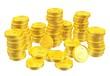 stapelweise Goldmünzen