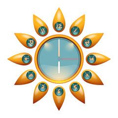 Sunny Face Wall Clock